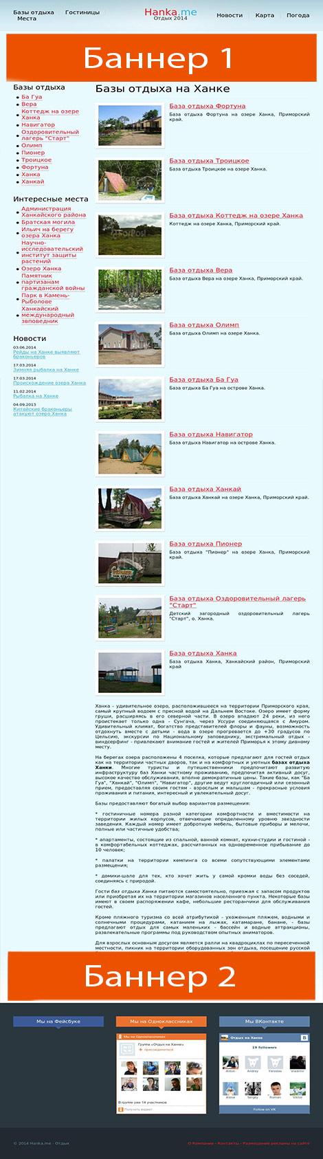 схема размещения рекламы на сайте posyet.com  height=